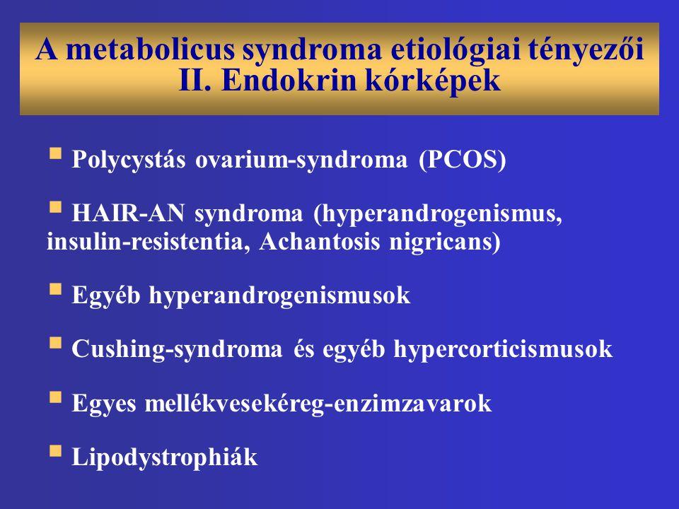 A metabolicus syndroma etiológiai tényezői