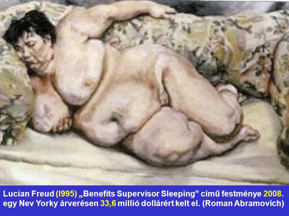"""Lucian Freud (l995) """"Benefits Supervisor Sleeping című festménye 2008"""