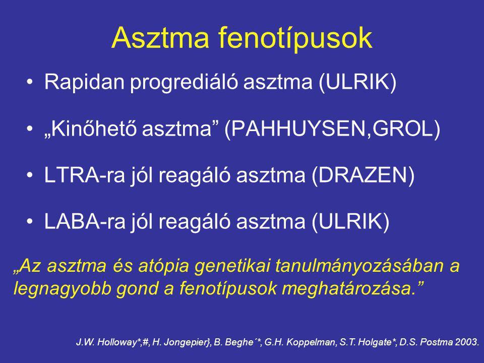 Asztma fenotípusok Rapidan progrediáló asztma (ULRIK)