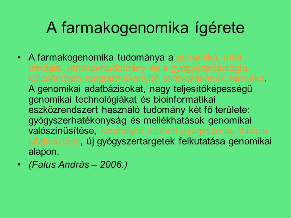 A farmakogenomika ígérete