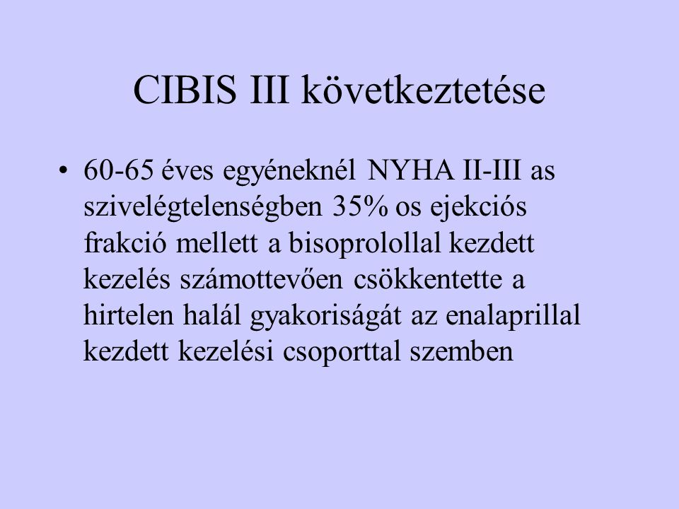 CIBIS III következtetése