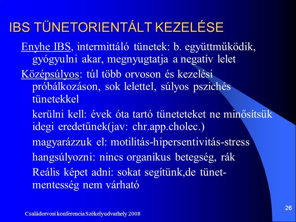 IBS TÜNETORIENTÁLT KEZELÉSE
