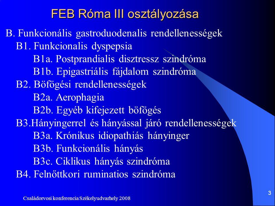 FEB Róma III osztályozása
