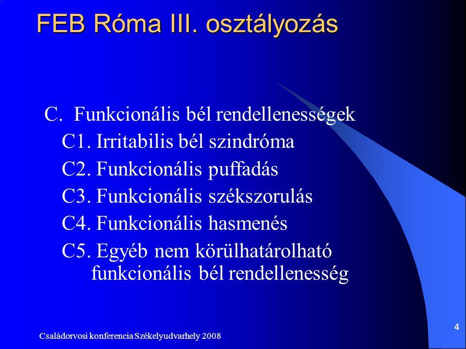 FEB Róma III. osztályozás