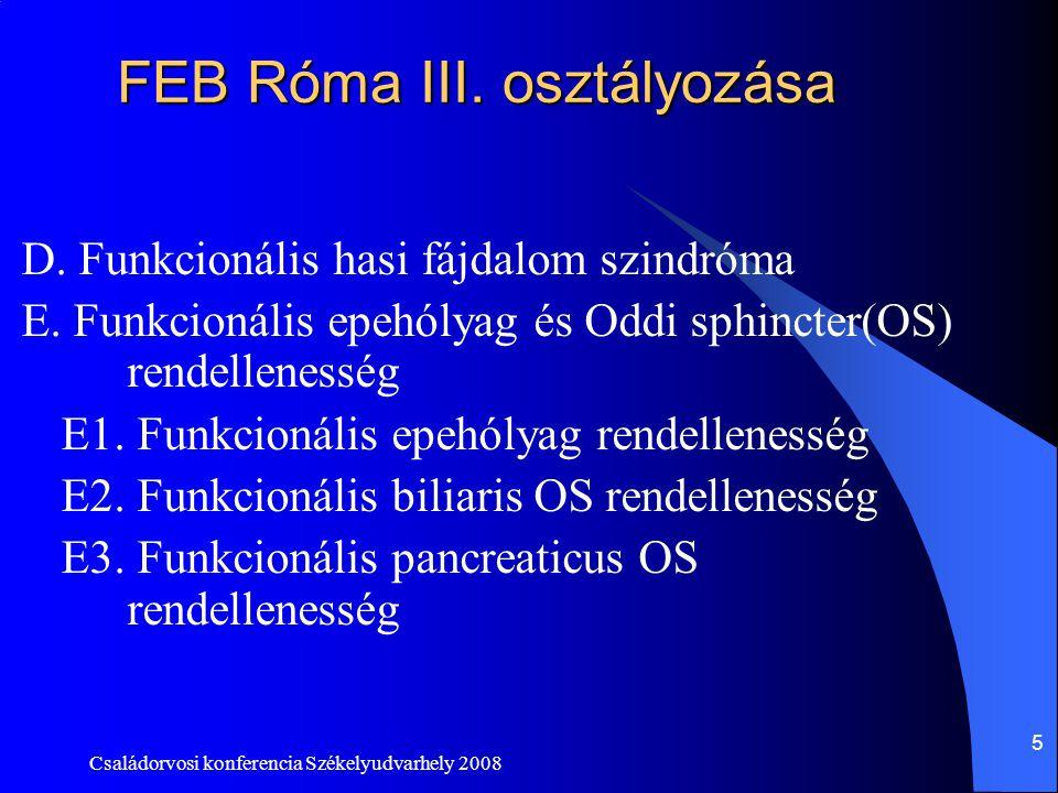 FEB Róma III. osztályozása