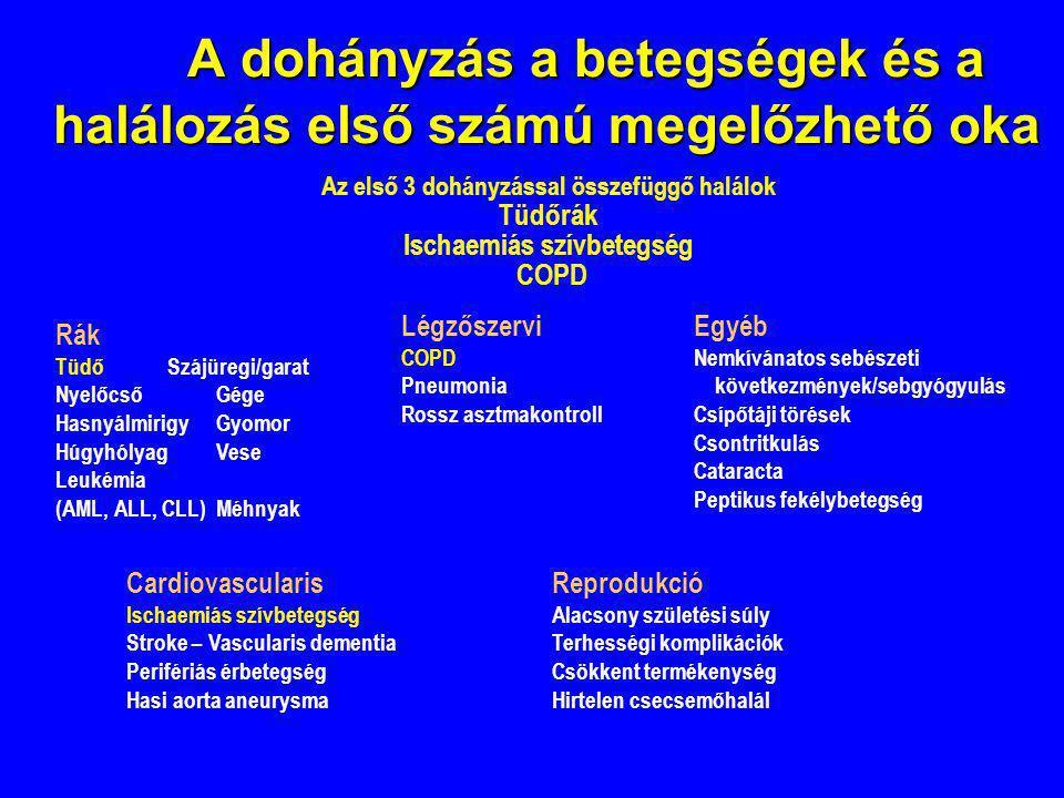 A dohányzás a betegségek és a halálozás első számú megelőzhető oka