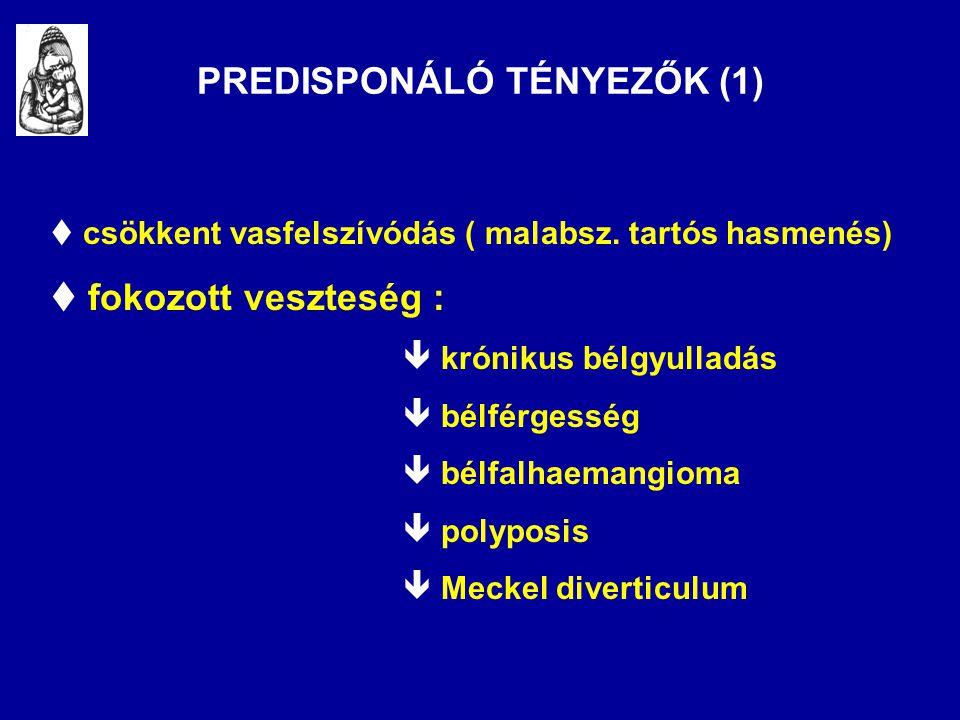 PREDISPONÁLÓ TÉNYEZŐK (1)
