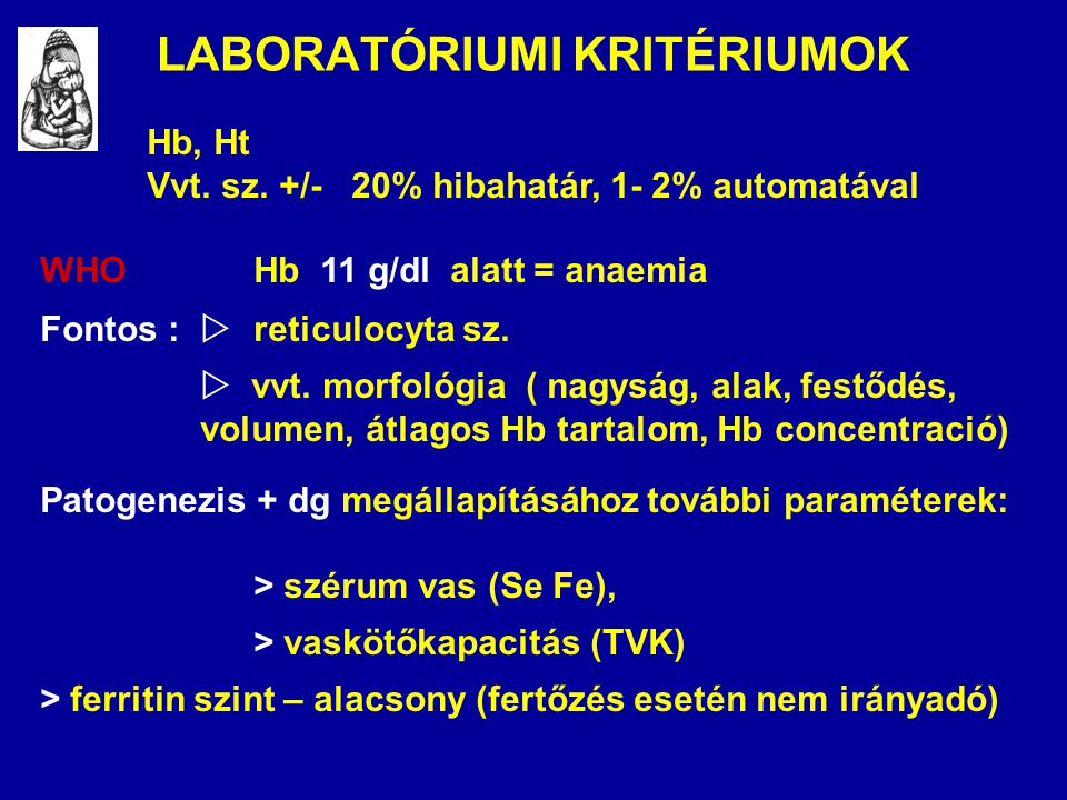 LABORATÓRIUMI KRITÉRIUMOK