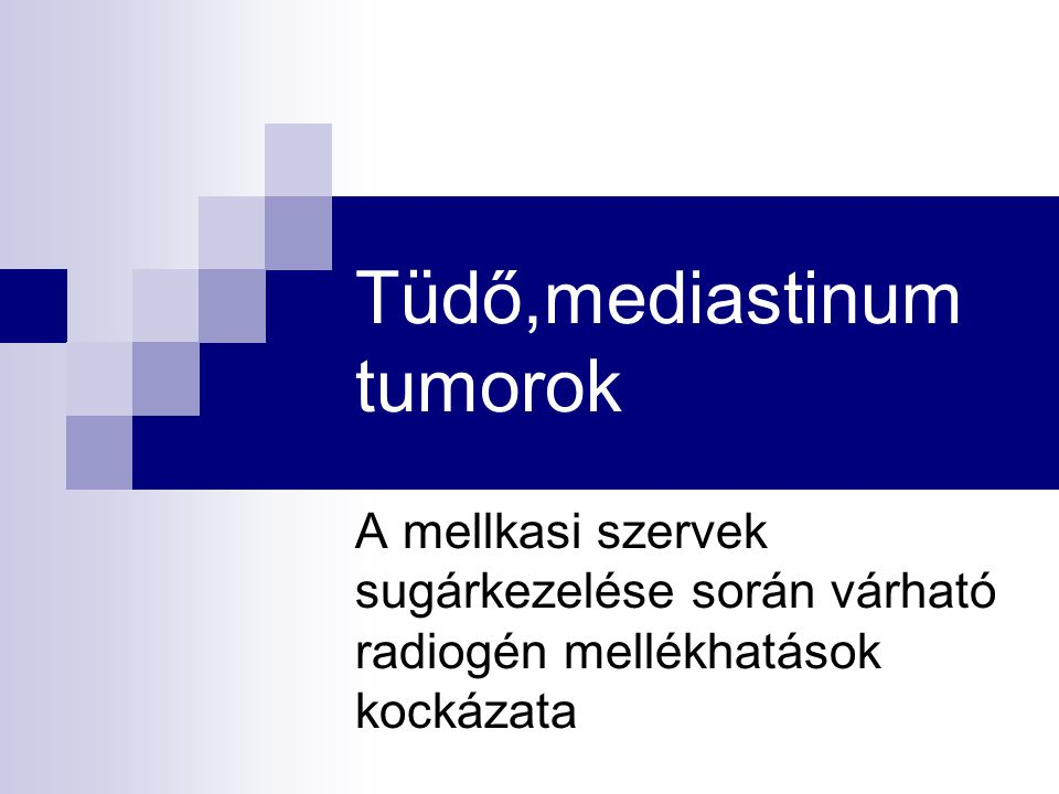 Tüdő,mediastinum tumorok