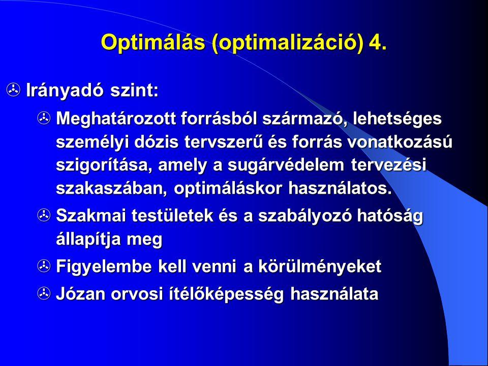 Optimálás (optimalizáció) 4.