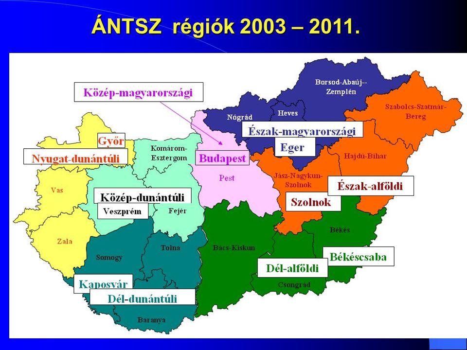 ÁNTSZ régiók 2003 – 2011.
