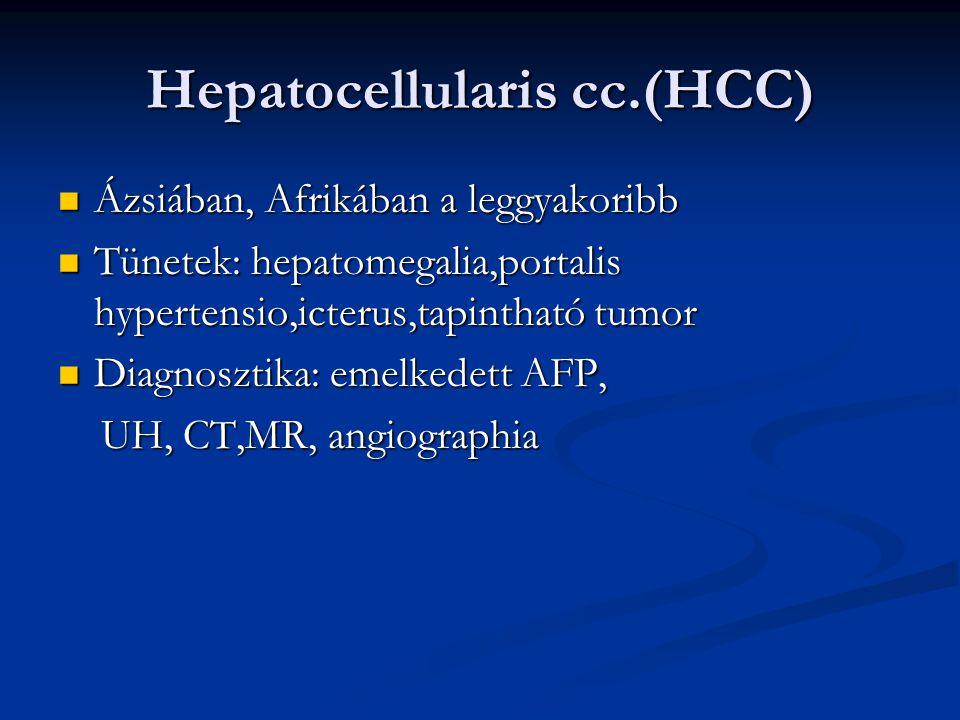 Hepatocellularis cc.(HCC)