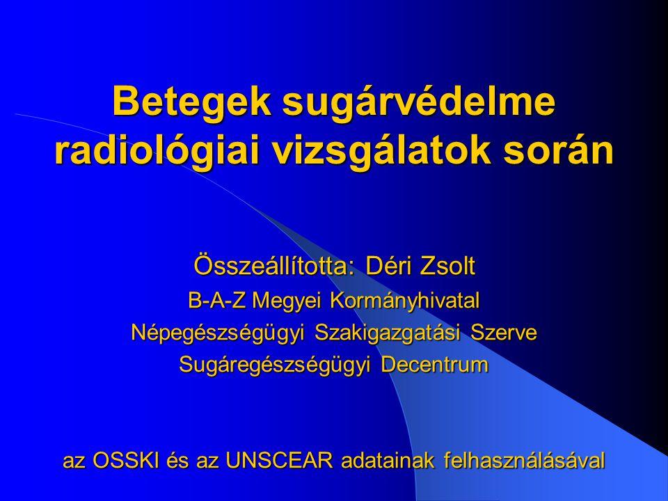 Betegek sugárvédelme radiológiai vizsgálatok során