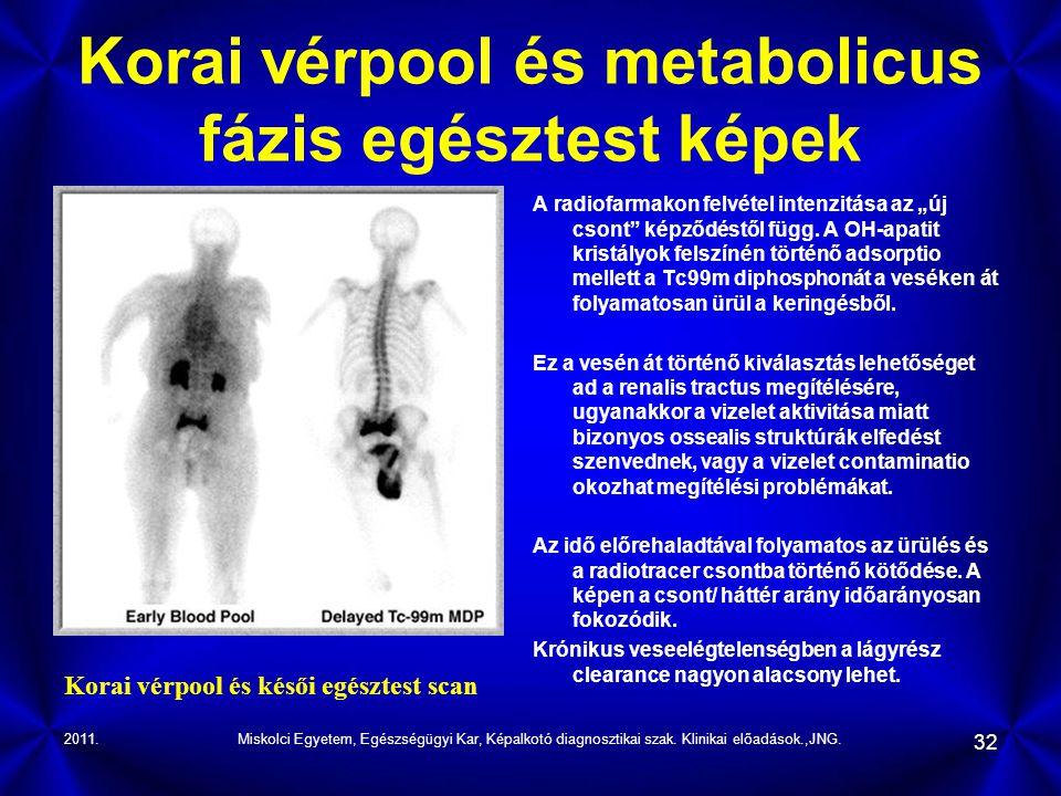 Korai vérpool és metabolicus fázis egésztest képek