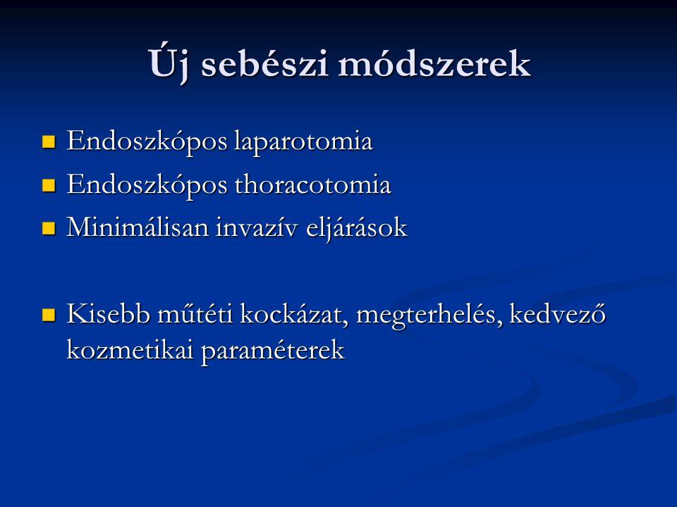 Új sebészi módszerek Endoszkópos laparotomia Endoszkópos thoracotomia