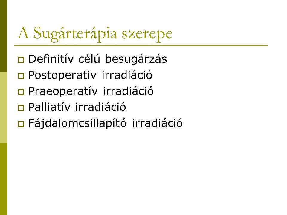 A Sugárterápia szerepe