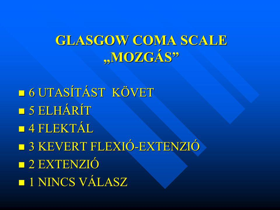 "GLASGOW COMA SCALE ""MOZGÁS"