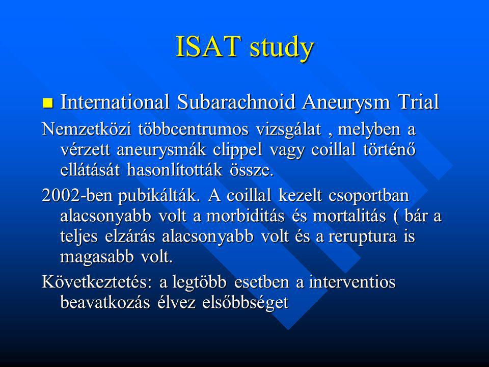 ISAT study International Subarachnoid Aneurysm Trial