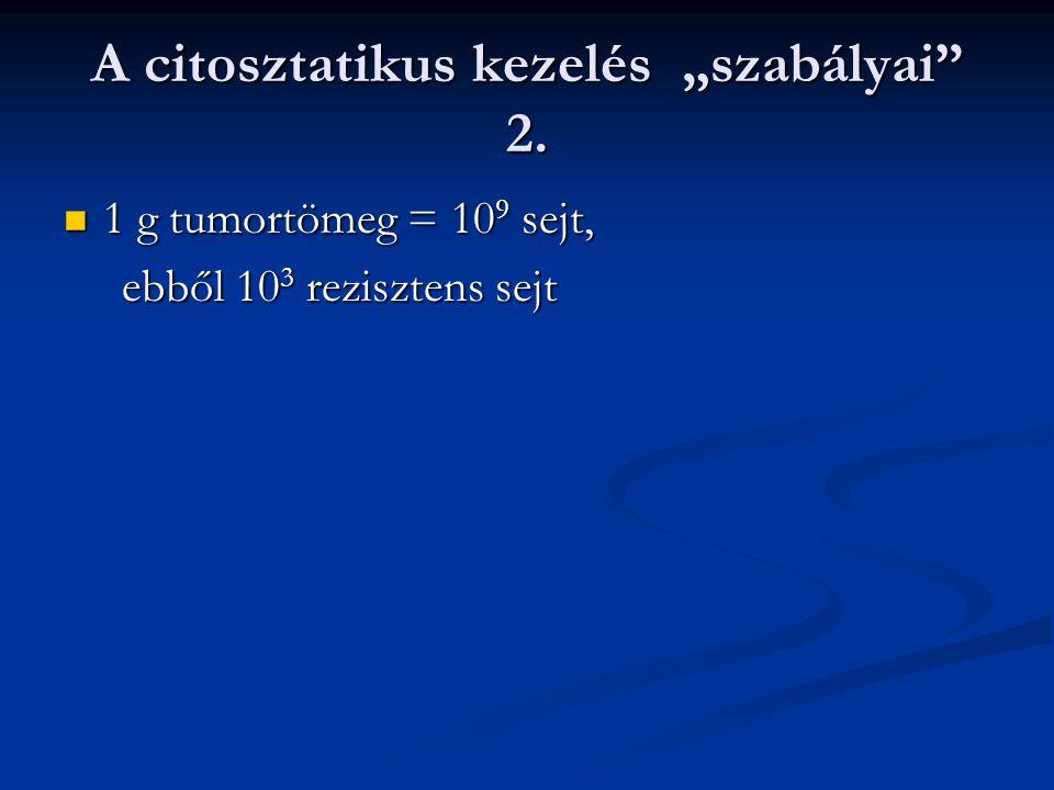 """A citosztatikus kezelés """"szabályai 2."""