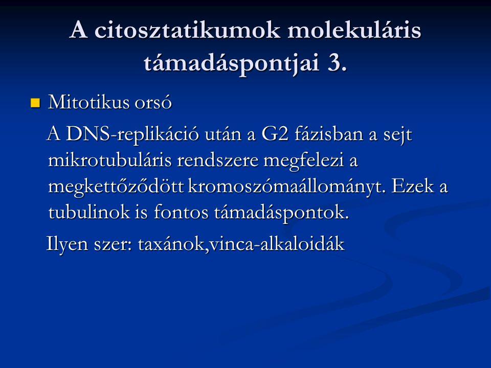 A citosztatikumok molekuláris támadáspontjai 3.