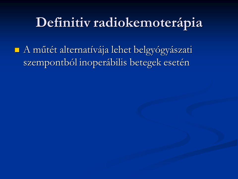 Definitiv radiokemoterápia