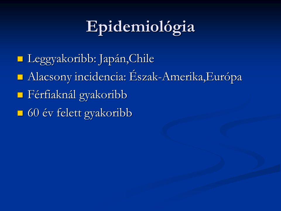 Epidemiológia Leggyakoribb: Japán,Chile