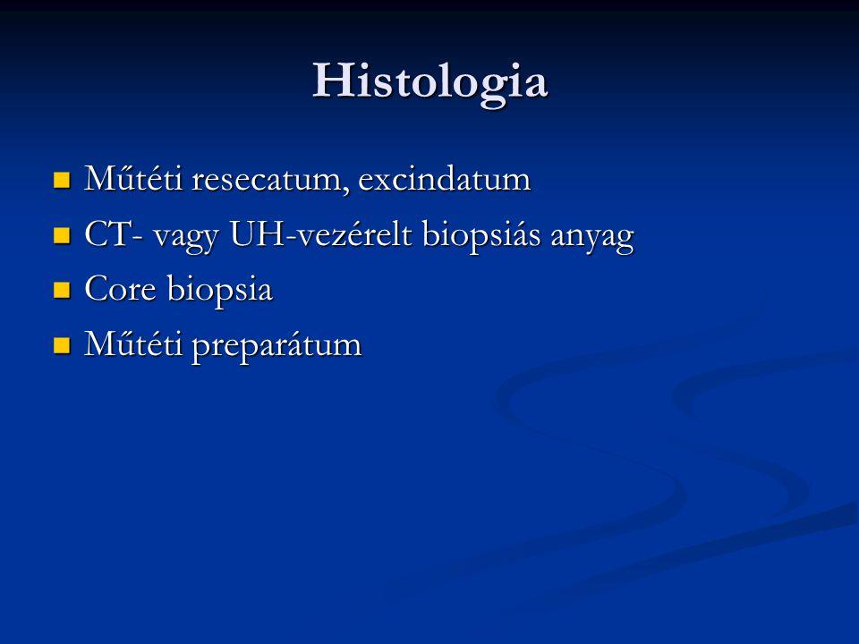 Histologia Műtéti resecatum, excindatum