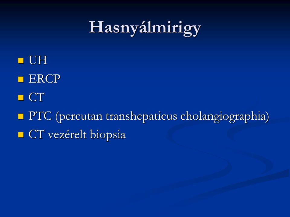 Hasnyálmirigy UH ERCP CT