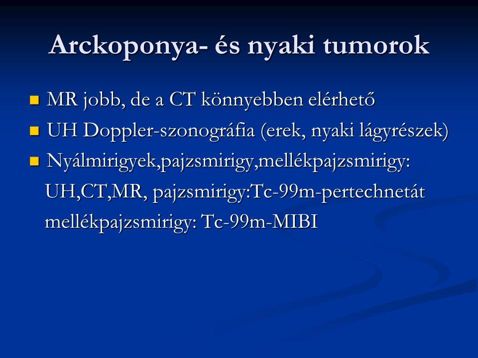 Arckoponya- és nyaki tumorok