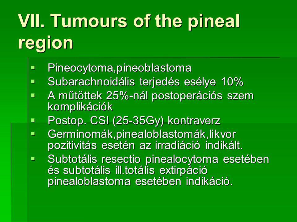 VII. Tumours of the pineal region