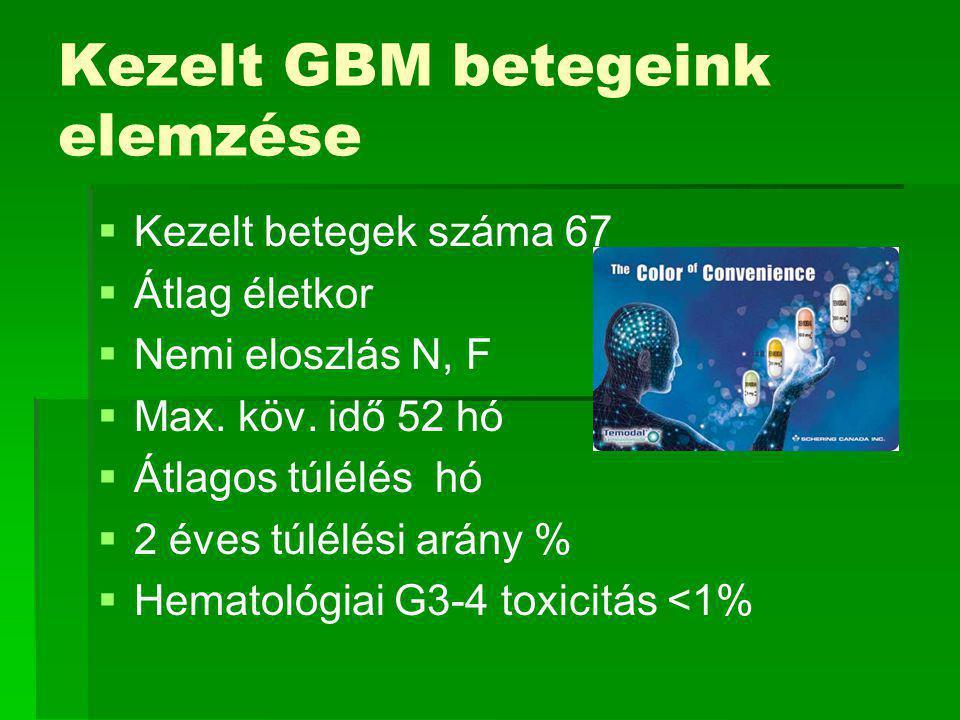 Kezelt GBM betegeink elemzése