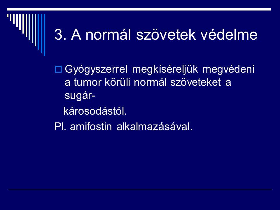 3. A normál szövetek védelme
