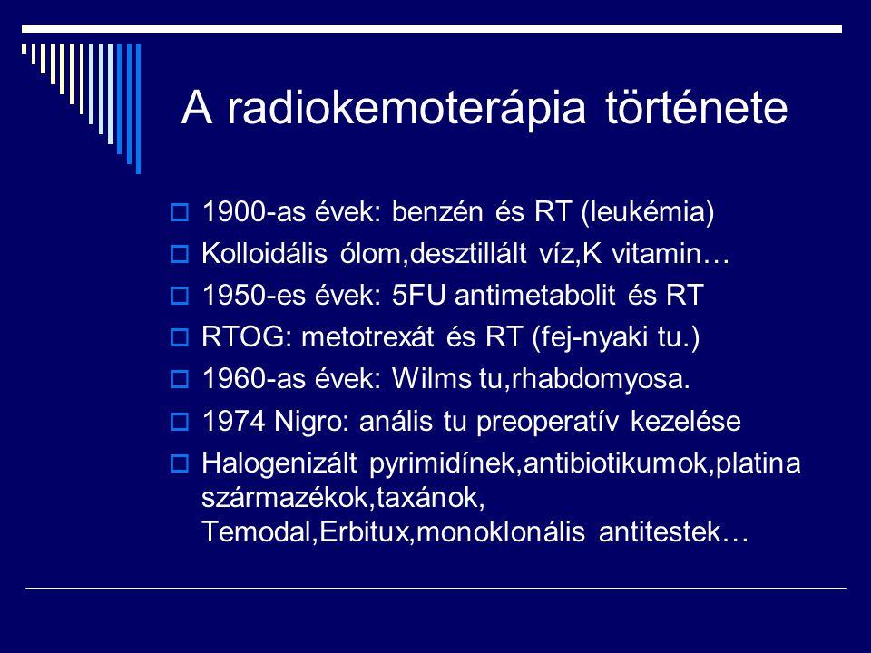 A radiokemoterápia története