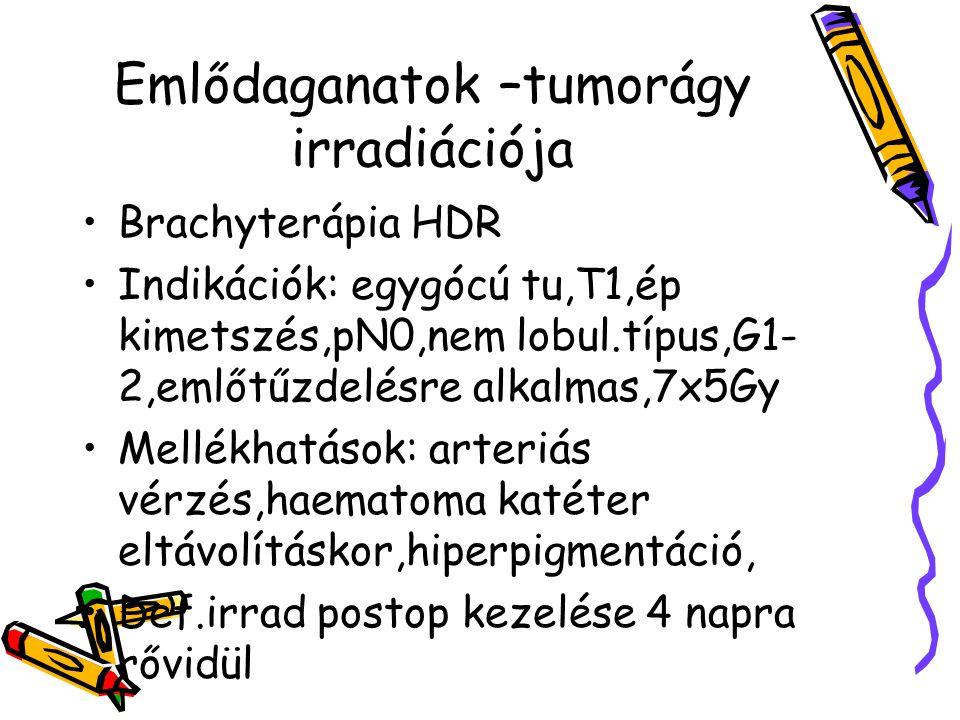 Emlődaganatok –tumorágy irradiációja