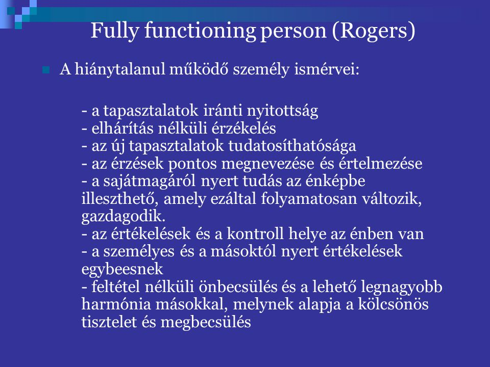 Fully functioning person (Rogers)