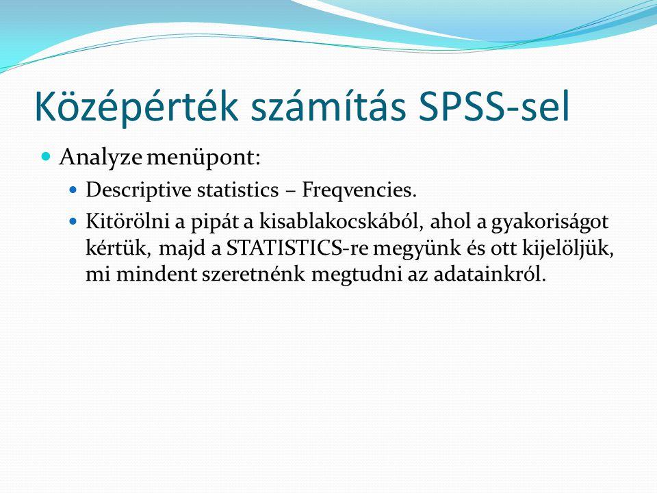 Középérték számítás SPSS-sel