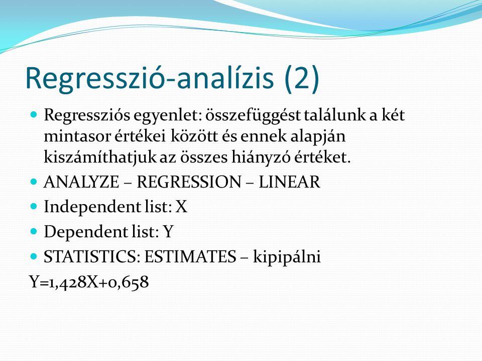 Regresszió-analízis (2)
