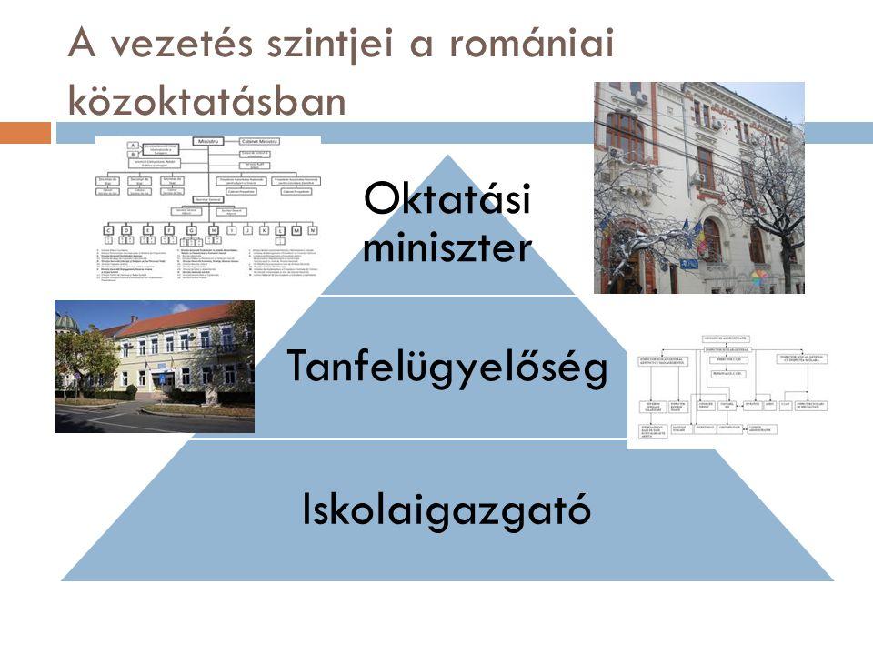 A vezetés szintjei a romániai közoktatásban