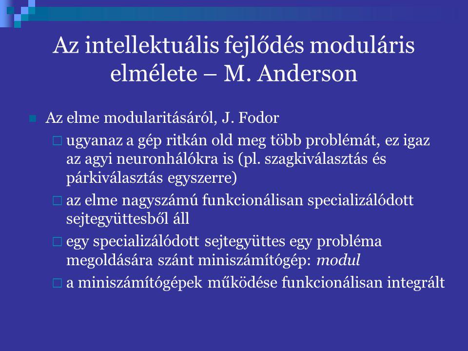 Az intellektuális fejlődés moduláris elmélete – M. Anderson
