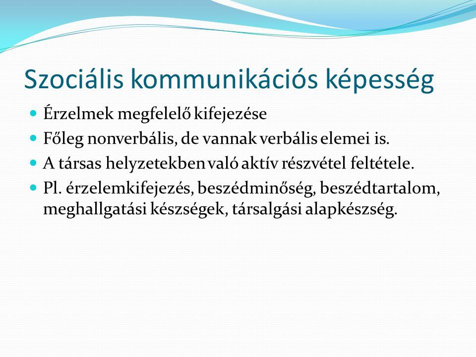 Szociális kommunikációs képesség
