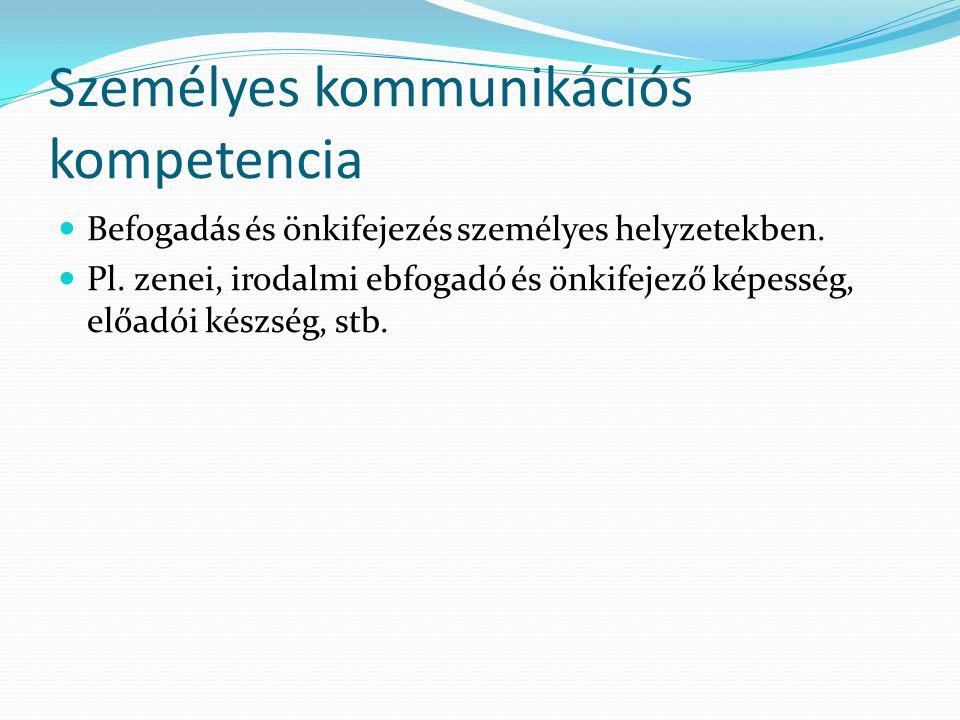 Személyes kommunikációs kompetencia