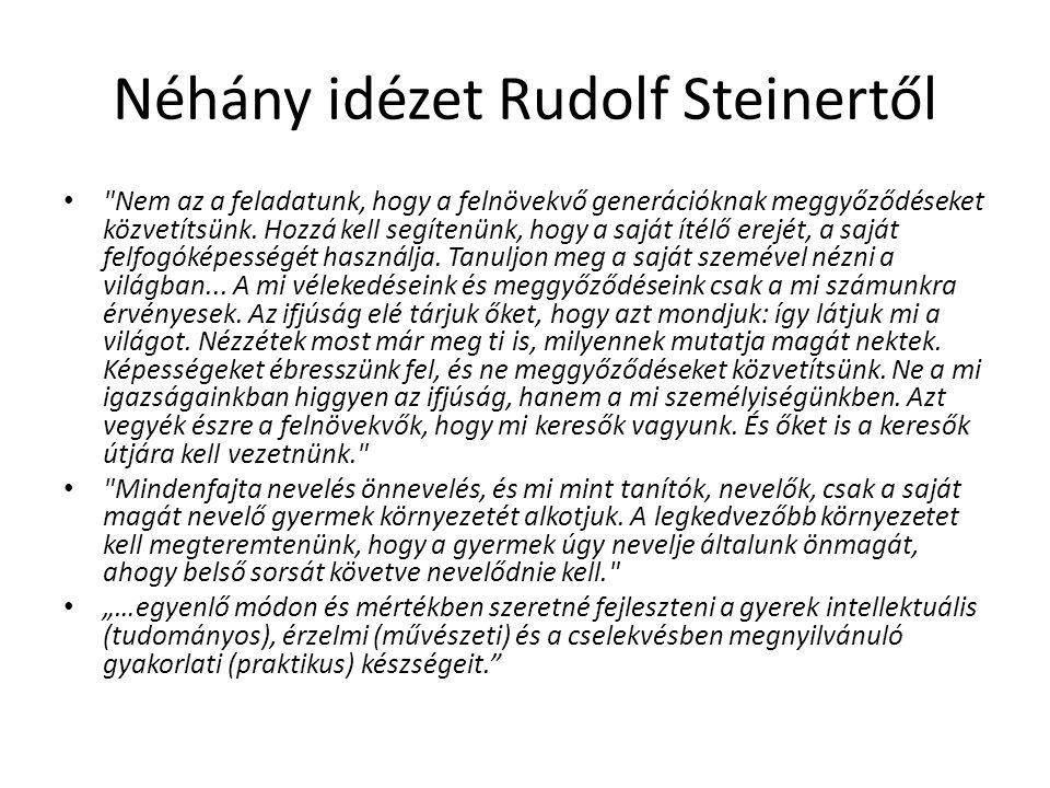 Néhány idézet Rudolf Steinertől
