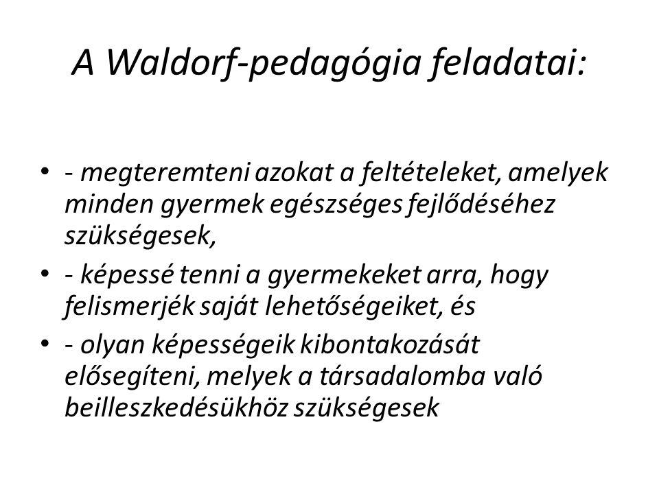 A Waldorf-pedagógia feladatai: