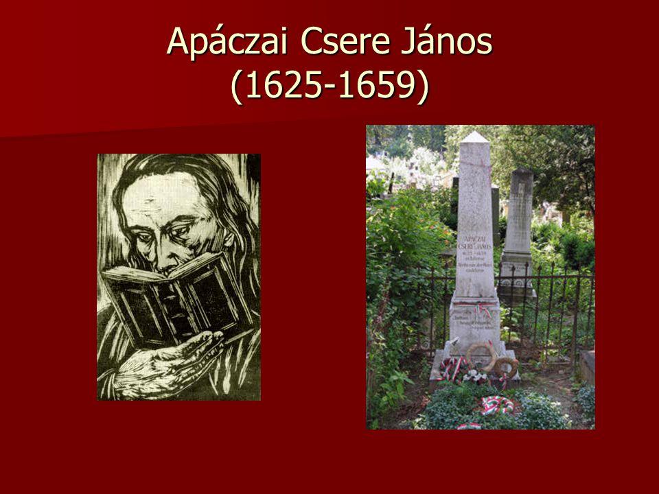Apáczai Csere János (1625-1659)