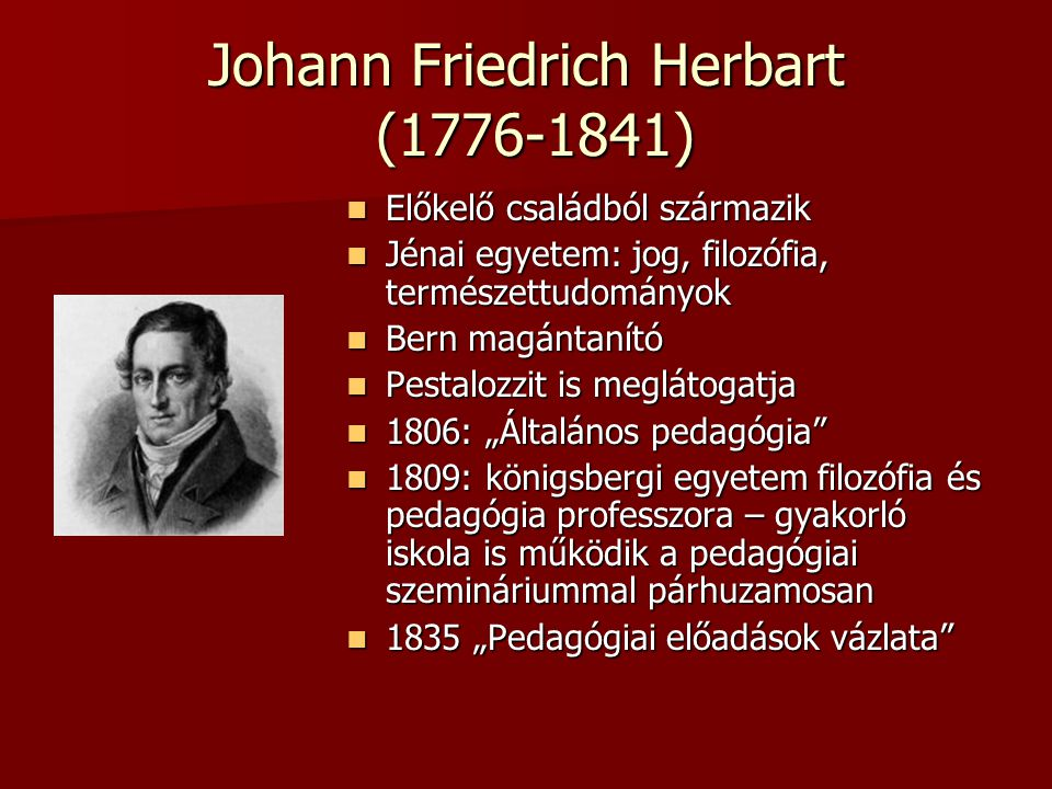 Johann Friedrich Herbart (1776-1841)
