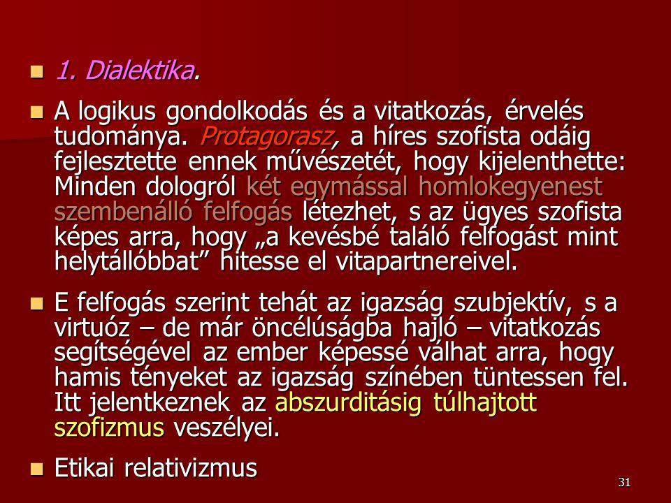 1. Dialektika.
