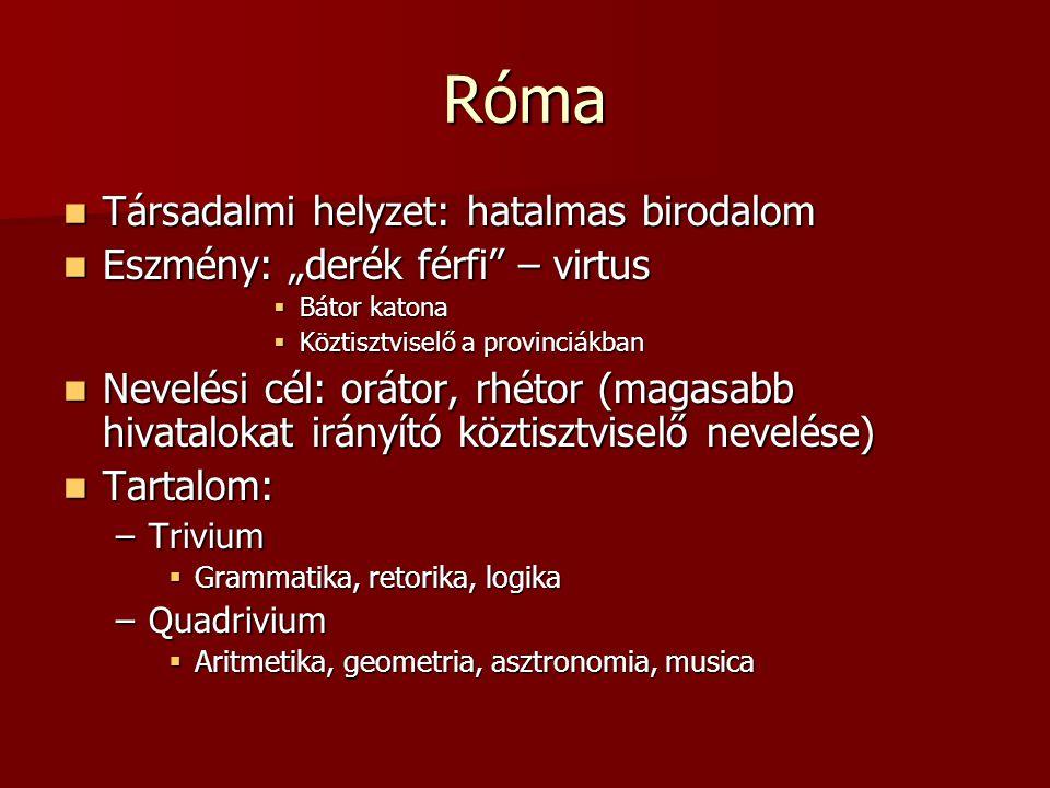 Róma Társadalmi helyzet: hatalmas birodalom