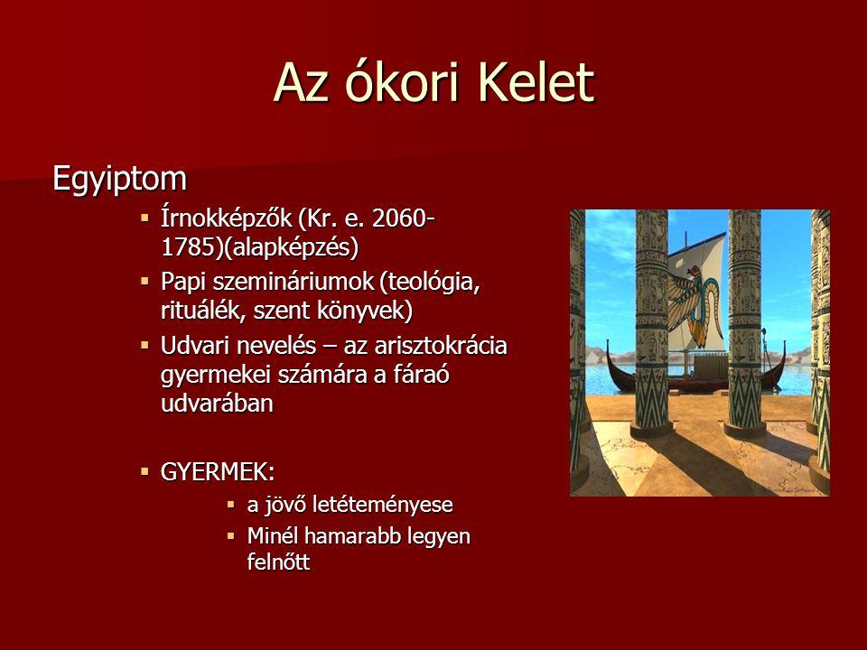 Az ókori Kelet Egyiptom Írnokképzők (Kr. e. 2060-1785)(alapképzés)