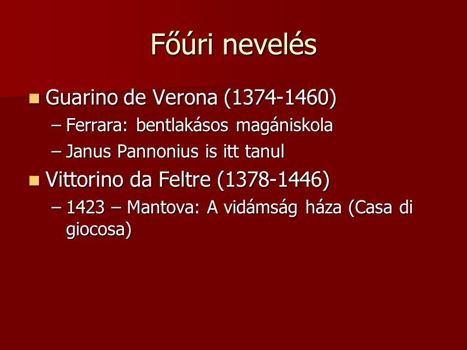 Főúri nevelés Guarino de Verona (1374-1460)