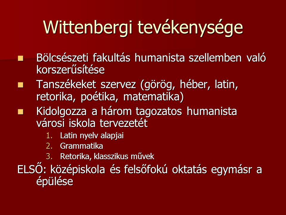 Wittenbergi tevékenysége